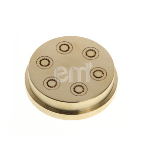 169 - 6MM RIDGED MACARONI DIE FOR TR110. Also fits Omcan PM-IT-0080 (13286) and Rosito Bisani TR110