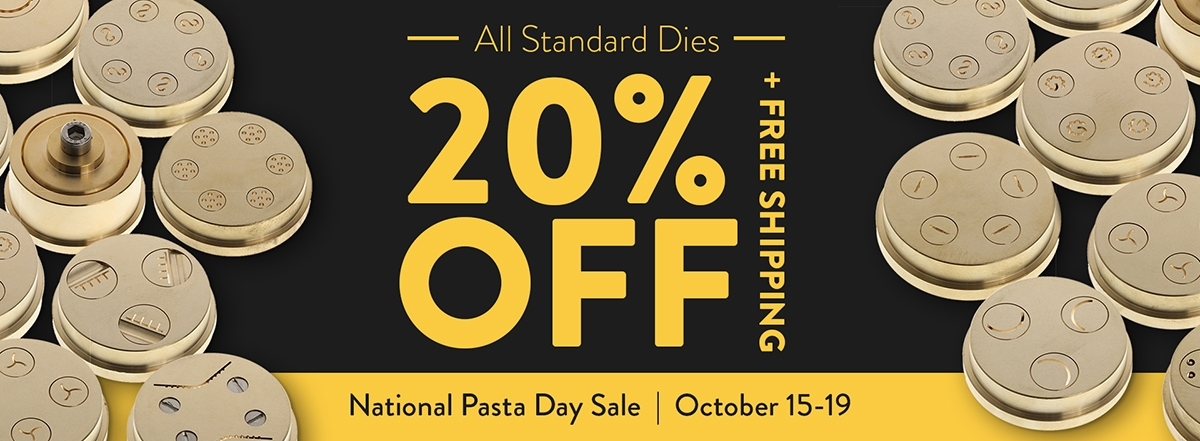 Pasta Die Day Sale